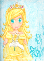 Comm - Crayon Princess Daffodil by Juliana1121