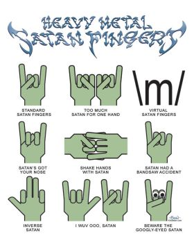 Heavy Metal Satan Fingers by JonBeanHastings