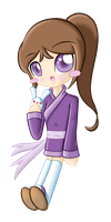 Bunny in Chibi.:Colored:. by pokediged