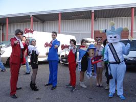 Ace Attorney group - Mantova Comics 2014 by Groucho91