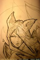 Wip Sketch Ahri by FEDsART
