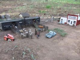 Livestock pens and Gomez store by SouthwestChief