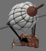 Steampunk Airship WIP by Meloncov