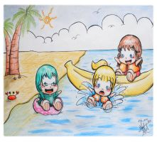 Commission : Go to Beach by Lisa-Art