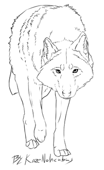 Free Wolf Lineart by KazeNoIncubus