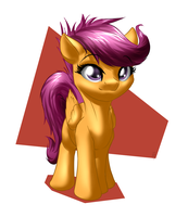 Speed draw: Scootaloo by MykeGreywolf