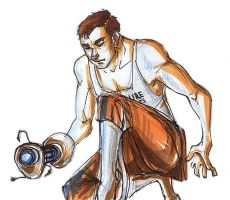 male!Chell by atropomorph