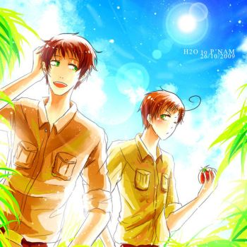 APH : Spain and Romano2 by H2O-kun