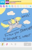 Draw Something: Derpy 'Ironchef' Hooves by DerpyMadness