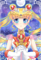Super Sailor Moon by vixiebee