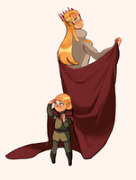 Thranduil and Legolas by Meex99