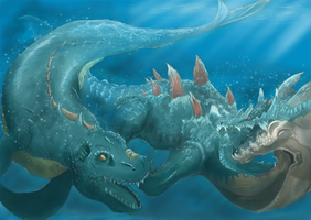 Giant Sea monsters by Yufika