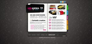 Web Agenda PSD Theme by bestofthemeforest