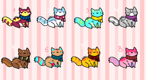 SOLD Scarf Kitty Adoptables by ChezuAdoptables