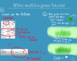 White-wolfehs grass TUTORIAL // HOW TO DRAW GRASS by White-wolfeh