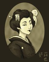 Olden Geiko Portrait by halflingsera