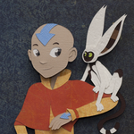 Aang and Momo by PlaidCushion