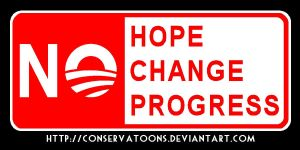 No: Hope Change Progress by Conservatoons