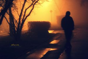 man in the fog2 by alessa93