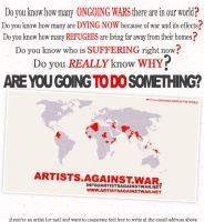 are you going to do something? by artistsagainstwar