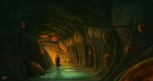Alien cave by adrianriom