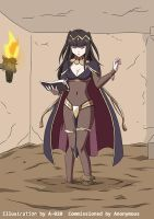 Tharja Sinking in Quicksand 01 by A-020