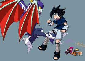 Sasuke and Shademan by SlurEXE