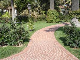 Brick Pathway by Stock-By-Crystal