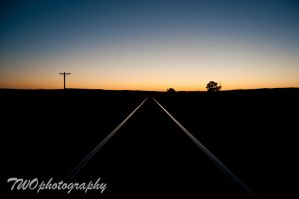 Rail Sunset by TWOphotography