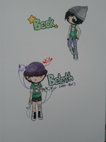 ::New Oc's:: Beck and Bel(Beleth) by Nabby1999