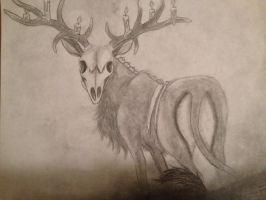 The Death Stag by Mmm-Brainss