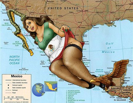 Map of Mexico by oupelay