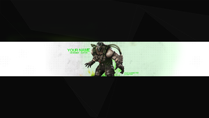 Alien Character YT Banner by ItsSync
