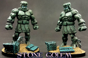 Mini A Week 50: Stone Golem by greylond