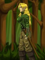 Elven Lady Alana by SteelFanged