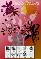 Swrial Flower Shape by designersbrush
