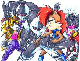 bunnie sally amy vs swatbotsCL by trunks24
