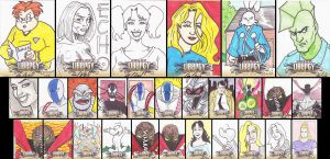 CBLDF Liberty Sketch Cards by phymns