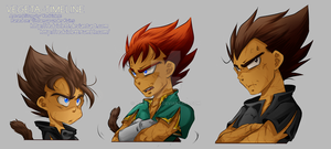 DBZ - Grown up under Ruins - Vegeta Timeline by RedViolett