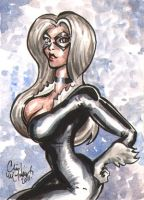 Black Cat ACEO 100311 by ChrisMcJunkin