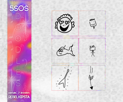 5SOS Doodles|Brushes|#PacksOfthe500W.| by silly-luv