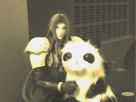 Sephy loves pandas by thehotmageaeris