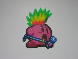 Rocker Kirby Perler Sprite by Tech-Viper