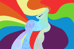 MLPFIM Psychedelic Wallpaper by SJArt117