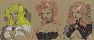 The Three Queens of the X-verse... by Hodges-Art