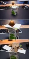 Android vs Danbo by mrk
