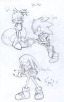 Team Sonic sketches by chao93