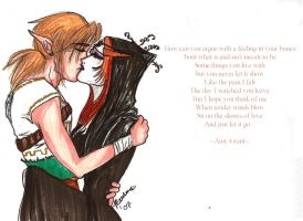Link and Midna-Cry a River by Maurexen