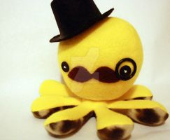 Yellow gentleman octoplushie by jaynedanger