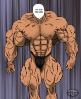 Overmuscled body without face by Kaitoraikan